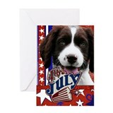 July 4th Firecracker Spaniel Greeting Card
