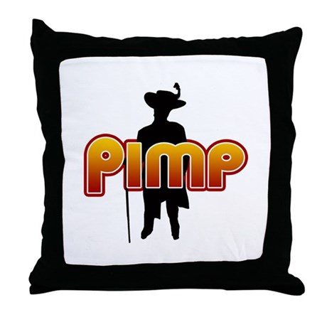 Pimp Throw Pillow
