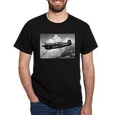 P-40 Beautiful Flight Black T-Shirt