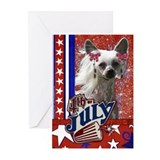 July 4th Firecracker Crestie Greeting Cards (Pk 20