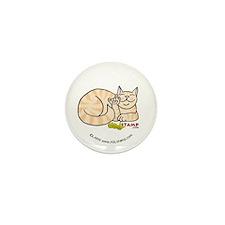 Orange Tabby ASL Kitty Mini Button (10 pack)