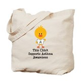 Asthma Awareness Chick Tote Bag