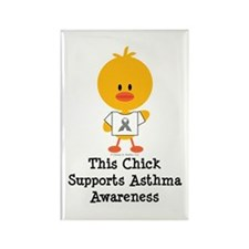 Asthma Awareness Chick Rectangle Magnet