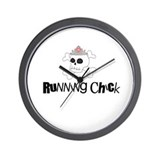Running Chick Skull Wall Clock