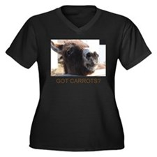 donkey Women's Plus Size V-Neck Dark T-Shirt