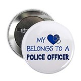 Police Officer's Heart Button