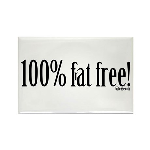 100% F(r)at Free Funny Fridge Magnet