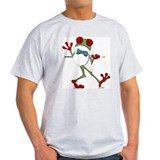 Dancing Red-Eyed Tree Frog Ash Grey T-Shirt