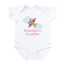 Grandpa's Copilot (girl) Infant Bodysuit