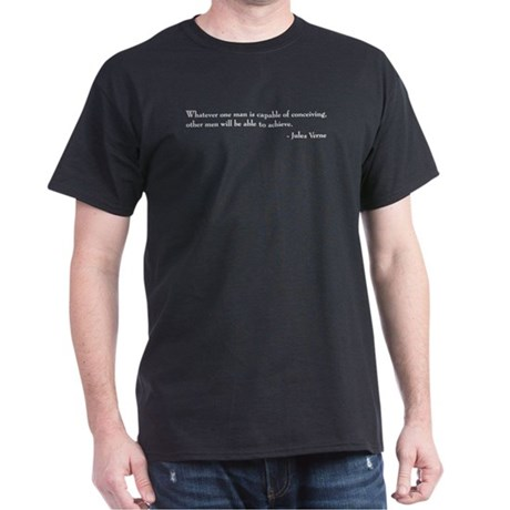 Jules Verne - Capable Black T-Shirt
