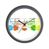 Bright Chromatic Jeep Wall Clock