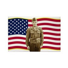 Audie Murphy Rectangle Magnet