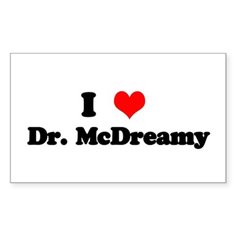 Grey's Dr. McDreamy Rectangle Sticker