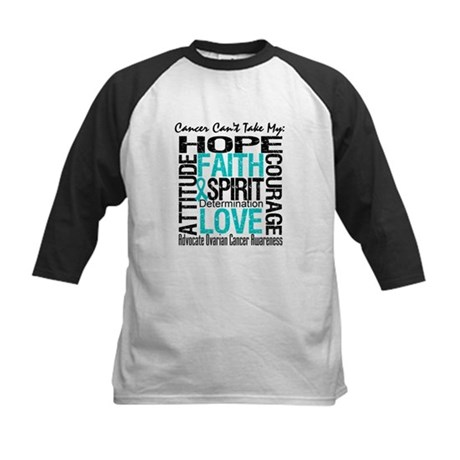 Ovarian Cancer Can't Kids Baseball Jersey