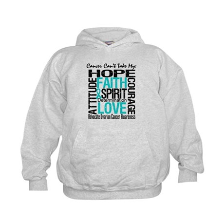 Ovarian Cancer Can't Kids Hoodie