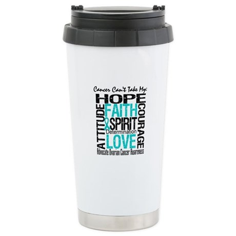 Ovarian Cancer Can't Ceramic Travel Mug