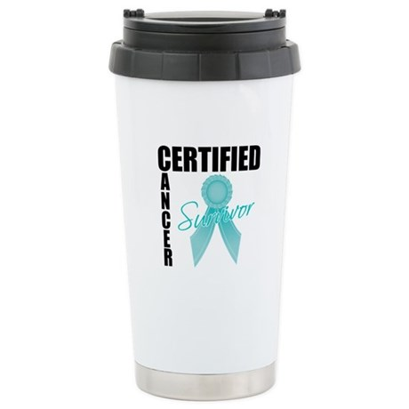 OvarianCancerSurvivor Ceramic Travel Mug