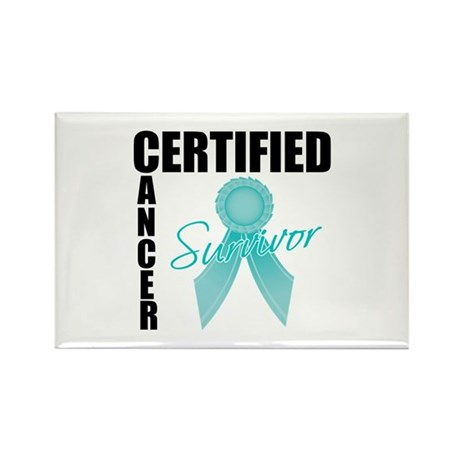 OvarianCancerSurvivor Rectangle Magnet