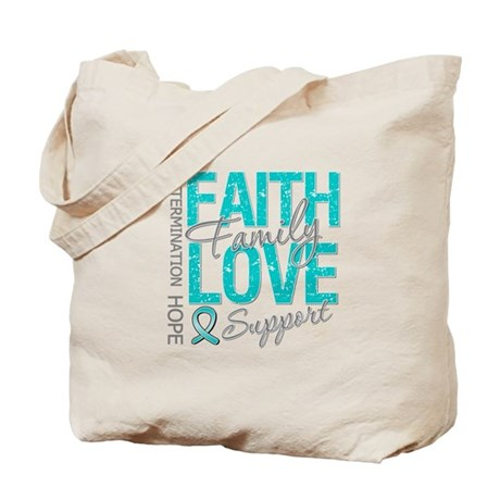 OvarianCancer Faith Tote Bag