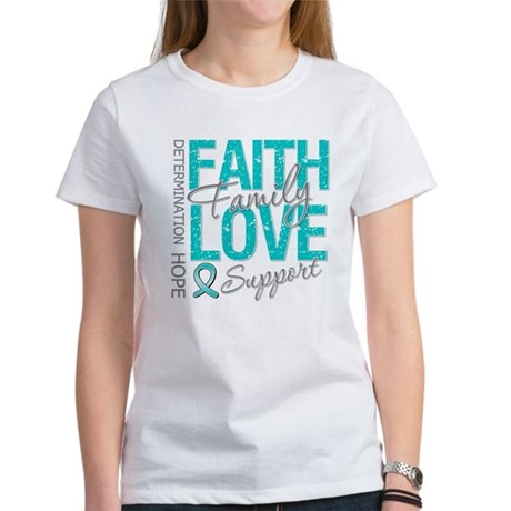 OvarianCancer Faith Women's T-Shirt