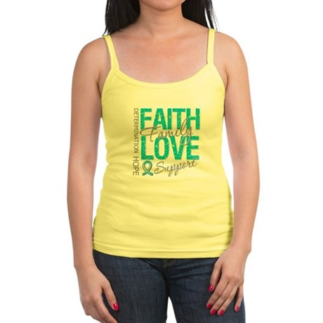 OvarianCancer Faith Jr. Spaghetti Tank