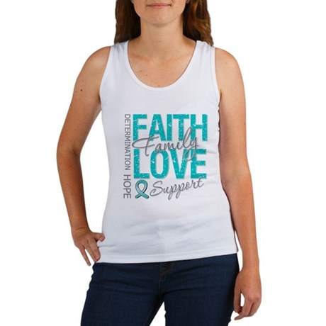 OvarianCancer Faith Women's Tank Top