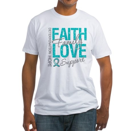 OvarianCancer Faith Fitted T-Shirt