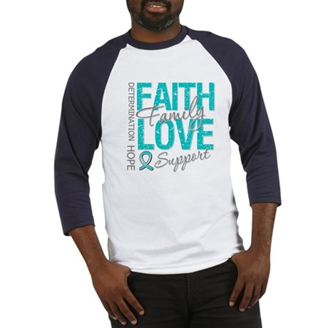 OvarianCancer Faith Baseball Jersey