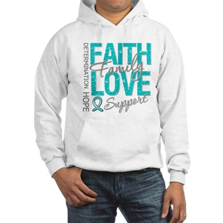 OvarianCancer Faith Hooded Sweatshirt