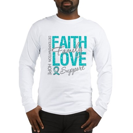 OvarianCancer Faith Long Sleeve T-Shirt