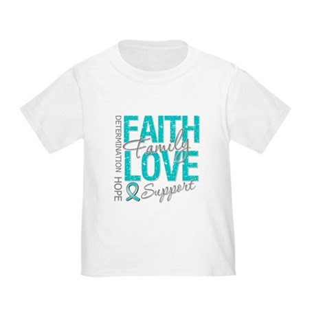OvarianCancer Faith Toddler T-Shirt