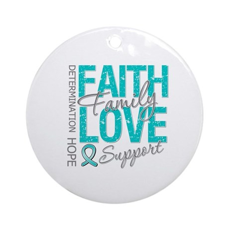 OvarianCancer Faith Ornament (Round)