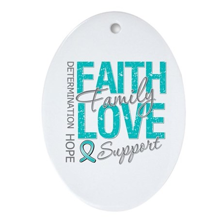 OvarianCancer Faith Ornament (Oval)