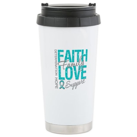 OvarianCancer Faith Ceramic Travel Mug