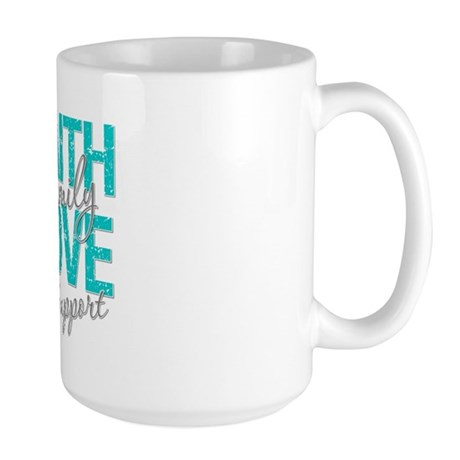 OvarianCancer Faith Large Mug