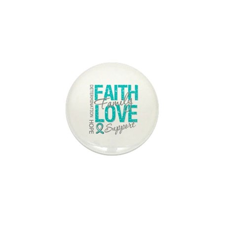 OvarianCancer Faith Mini Button (10 pack)