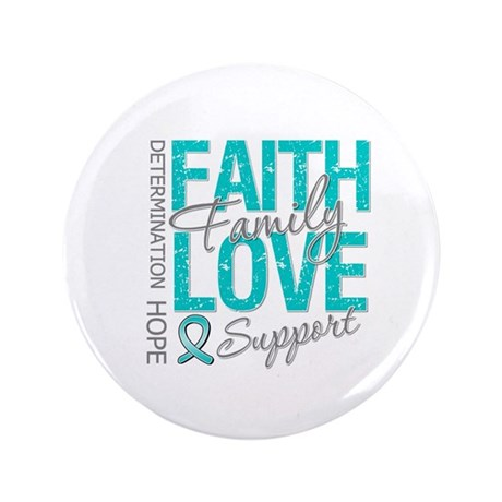 "OvarianCancer Faith 3.5"" Button (100 pack)"