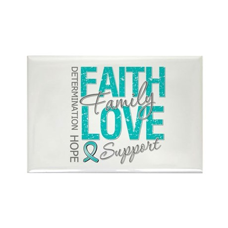 OvarianCancer Faith Rectangle Magnet (100 pack)