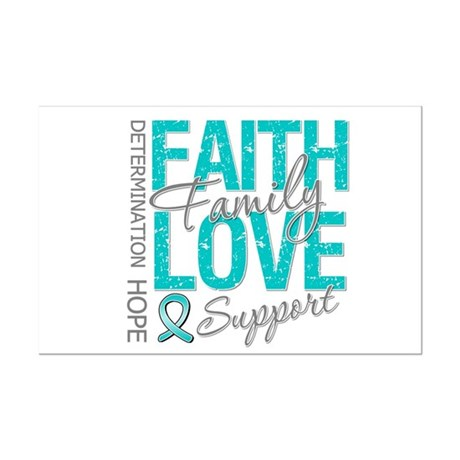 OvarianCancer Faith Mini Poster Print