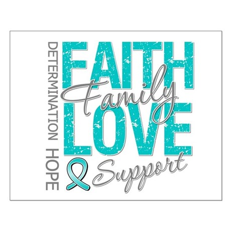 OvarianCancer Faith Small Poster