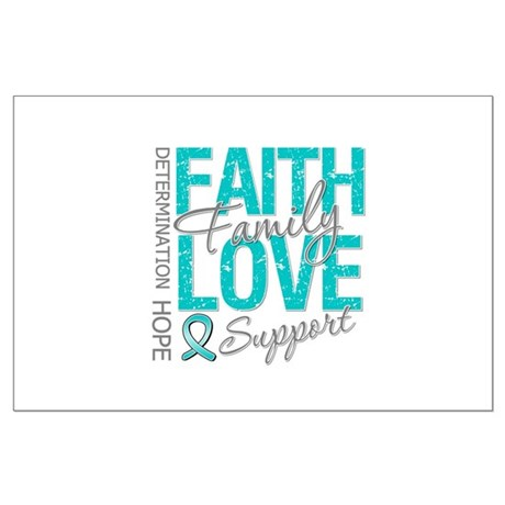 OvarianCancer Faith Large Poster