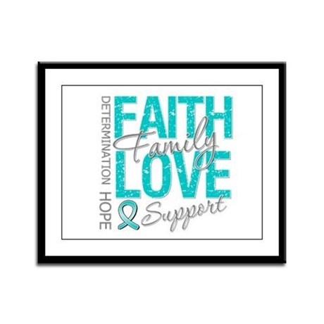 OvarianCancer Faith Framed Panel Print