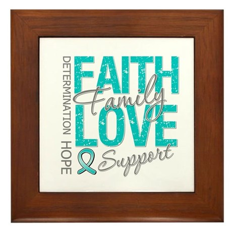 OvarianCancer Faith Framed Tile