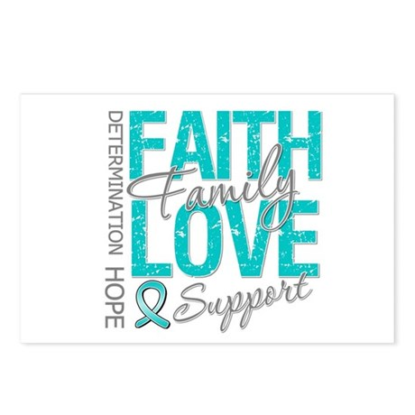 OvarianCancer Faith Postcards (Package of 8)