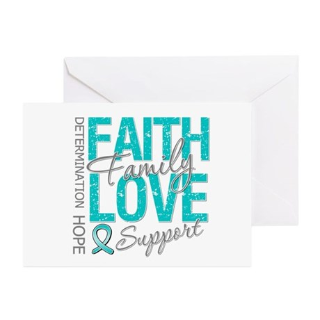 OvarianCancer Faith Greeting Cards (Pk of 10)