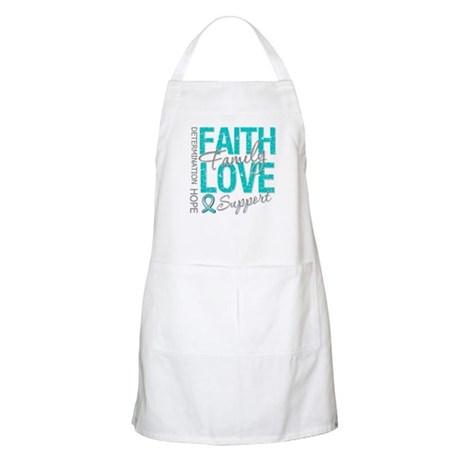 OvarianCancer Faith Apron