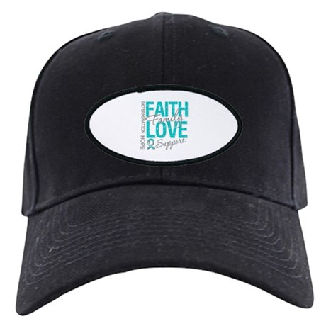 OvarianCancer Faith Black Cap
