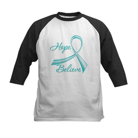 OvarianCancer HopeBelieve Kids Baseball Jersey