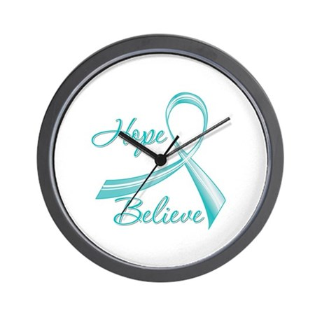 OvarianCancer HopeBelieve Wall Clock