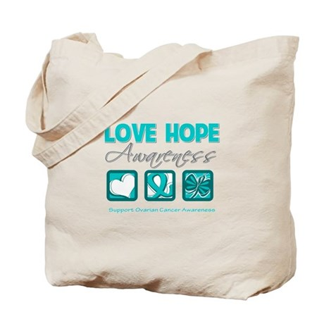 Ovarian Cancer LoveHope Tote Bag